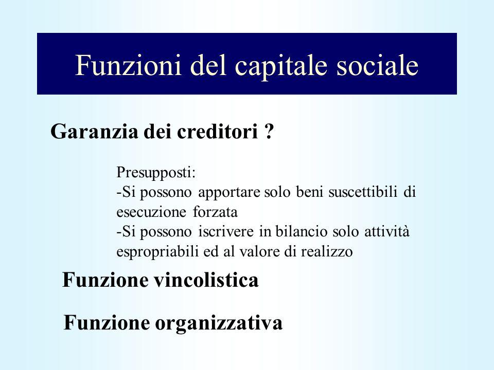 Funzioni del capitale sociale