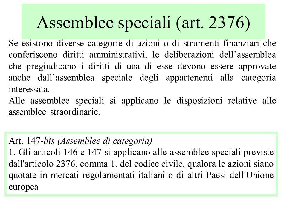Assemblee speciali (art. 2376)