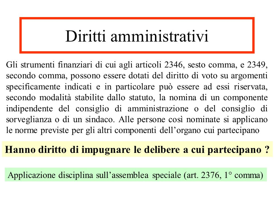 Diritti amministrativi