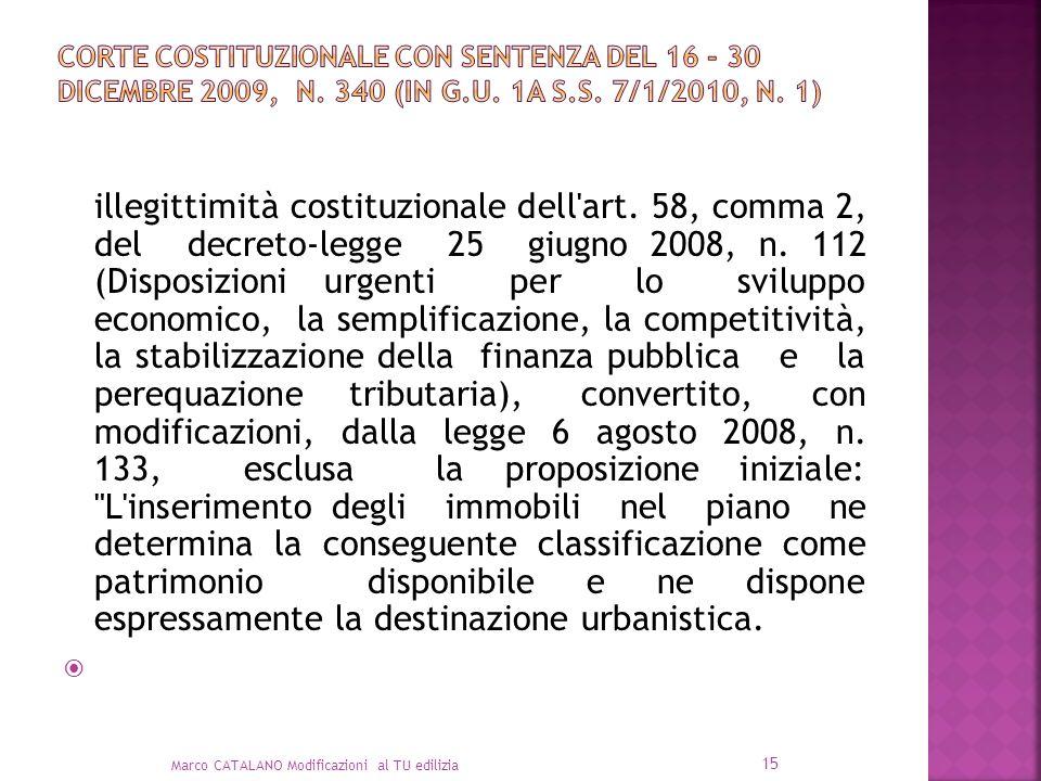 Corte Costituzionale con sentenza del 16 - 30 dicembre 2009, n