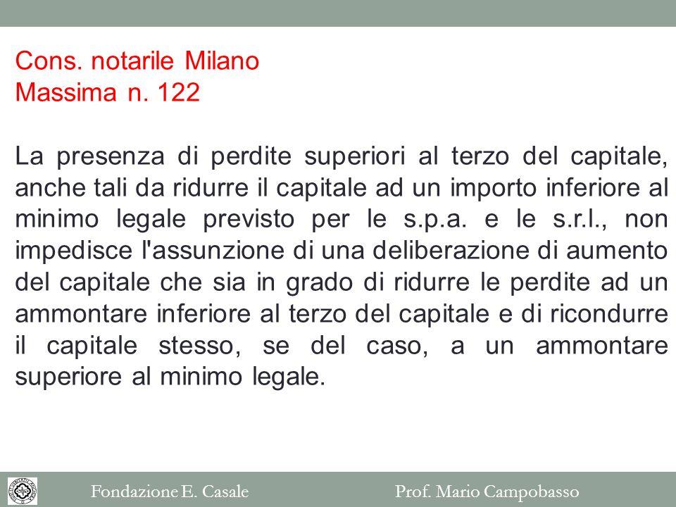 Cons. notarile Milano Massima n. 122