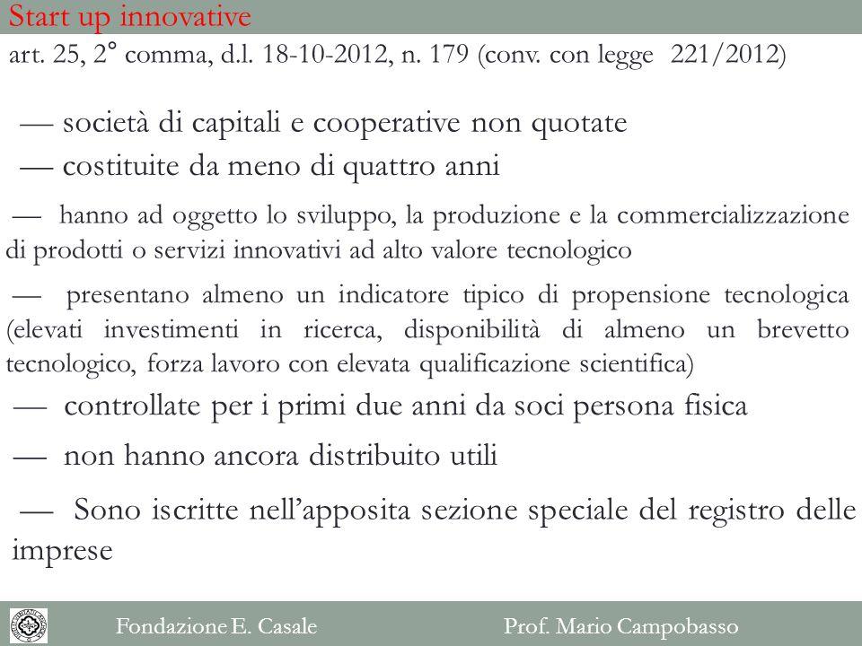 — società di capitali e cooperative non quotate