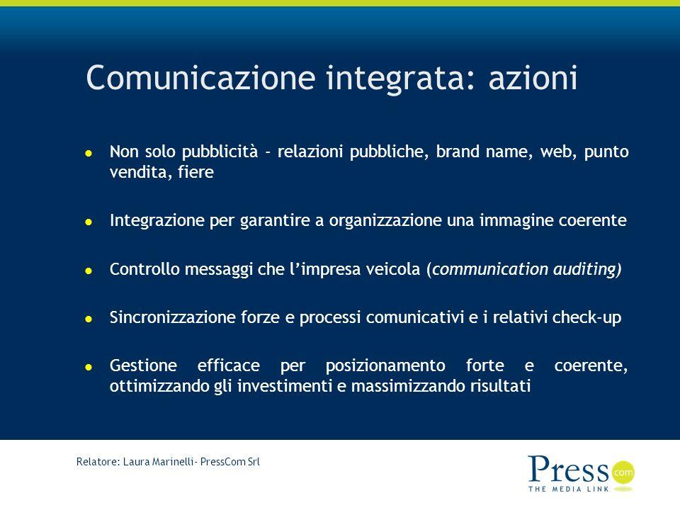 Comunicazione integrata: azioni