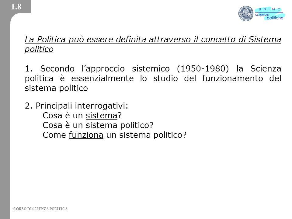 2. Principali interrogativi: Cosa è un sistema