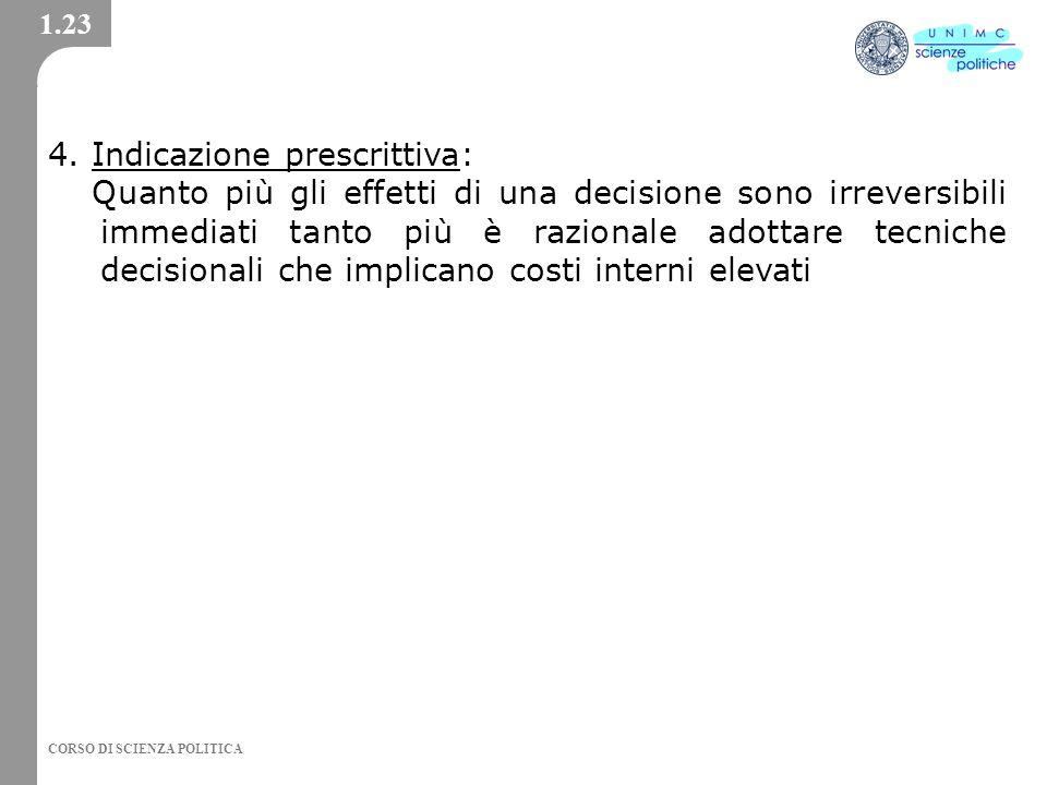 4. Indicazione prescrittiva: