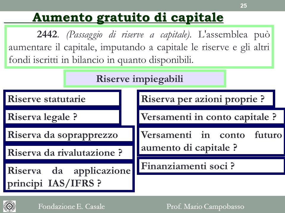Aumento gratuito di capitale