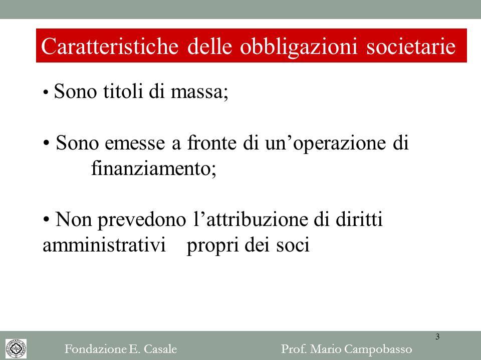 Caratteristiche delle obbligazioni societarie