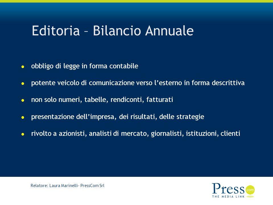 Editoria – Bilancio Annuale