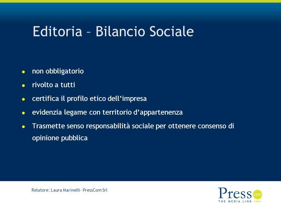 Editoria – Bilancio Sociale