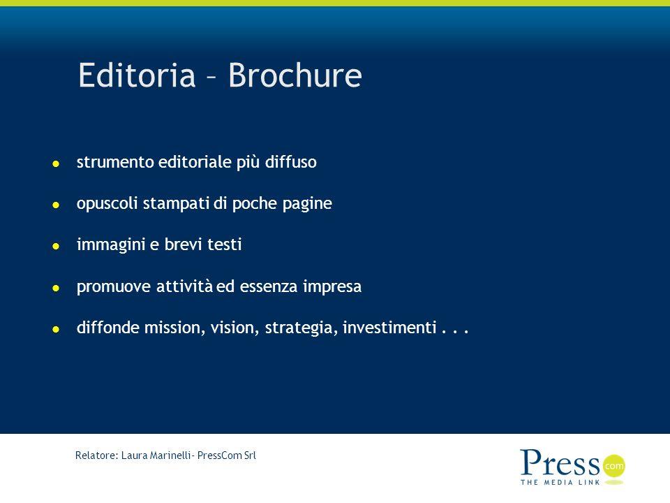 Editoria – Brochure strumento editoriale più diffuso