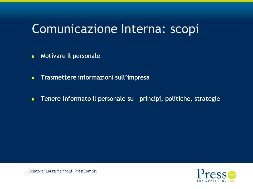 Comunicazione Interna: scopi