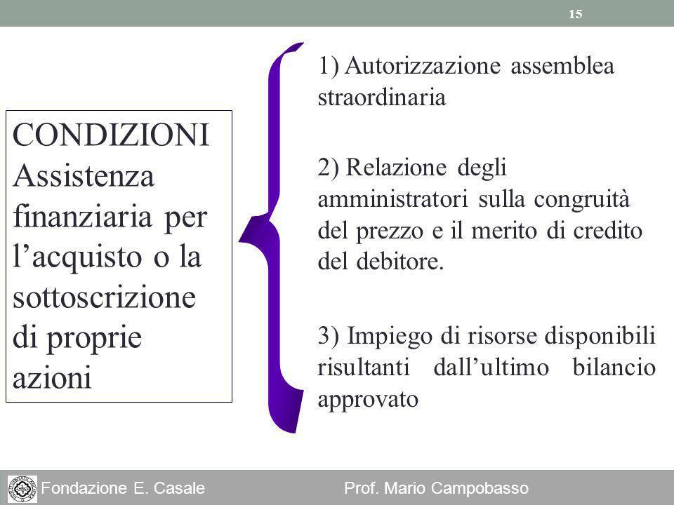 1) Autorizzazione assemblea straordinaria