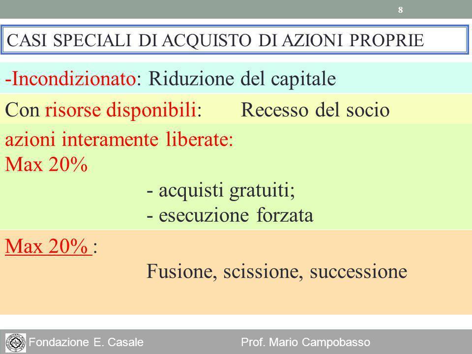 Incondizionato: Riduzione del capitale