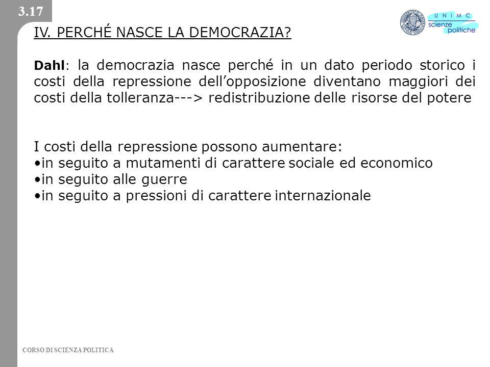 IV. PERCHÉ NASCE LA DEMOCRAZIA