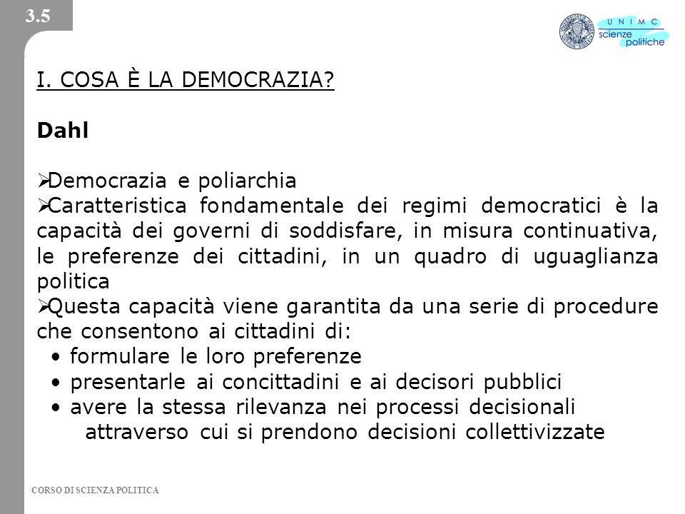 Democrazia e poliarchia