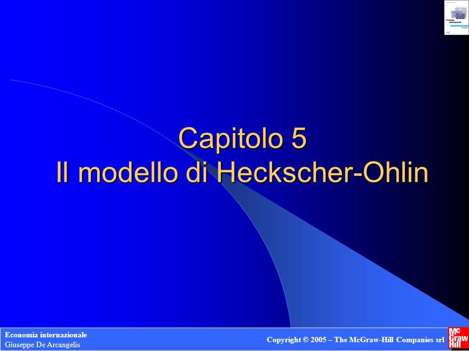 Capitolo 5 Il modello di Heckscher-Ohlin