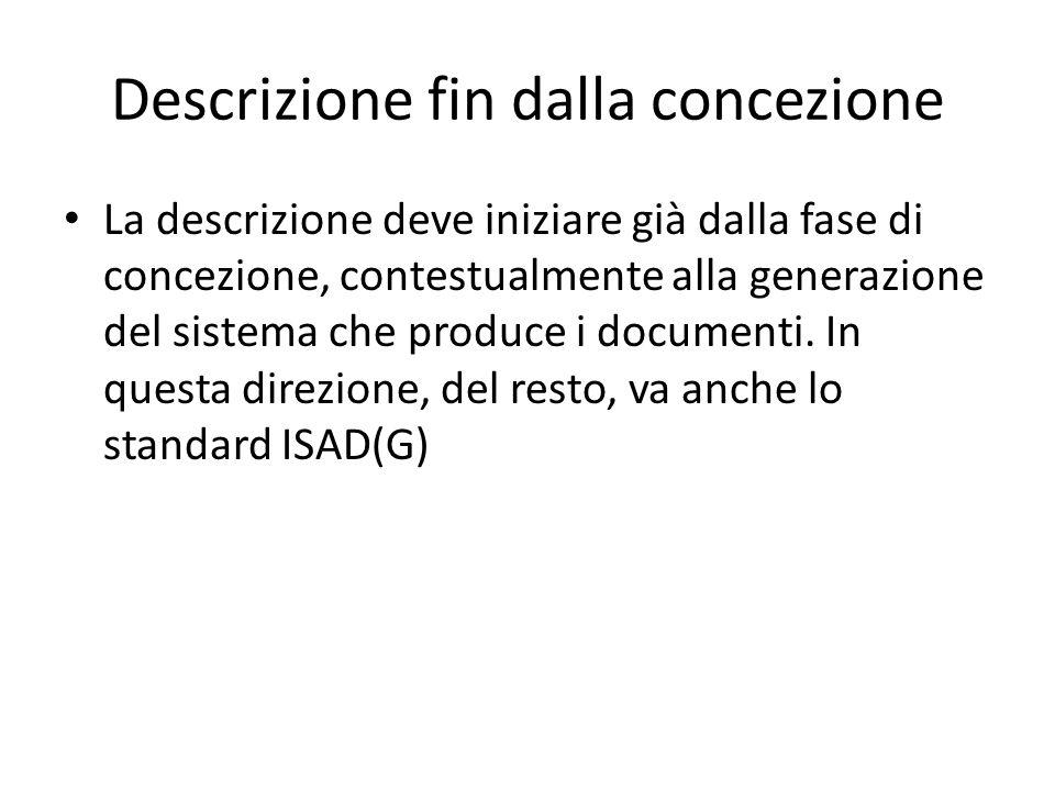 Descrizione fin dalla concezione