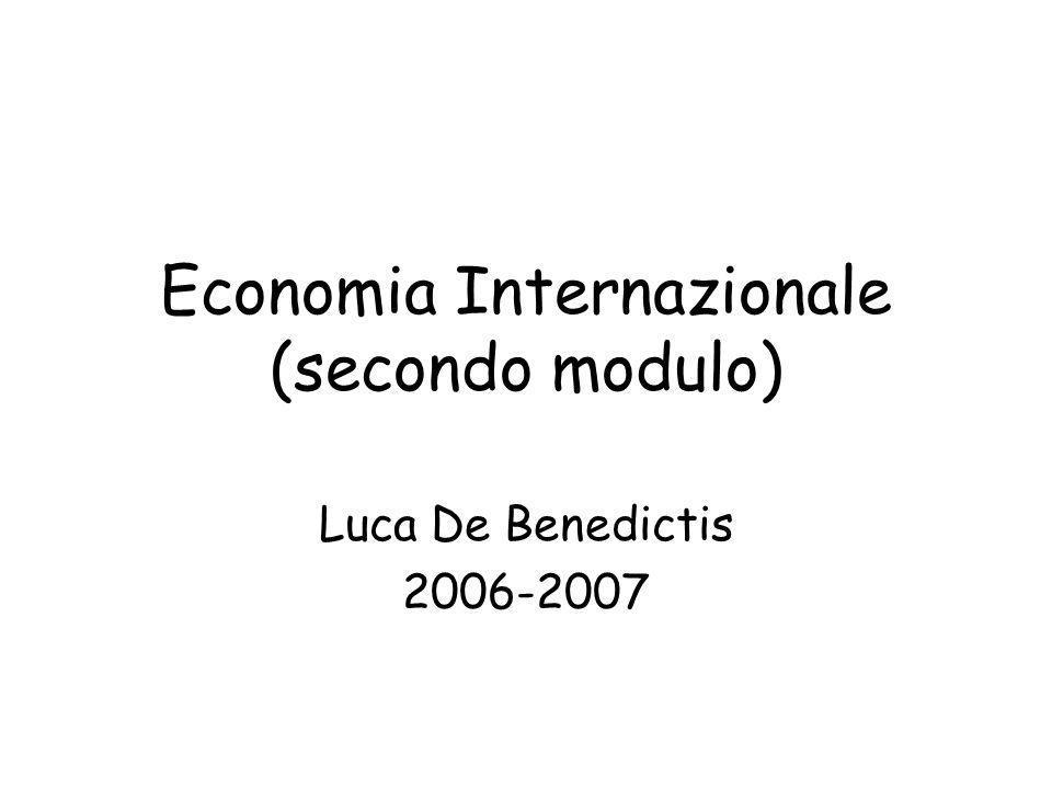 Economia Internazionale (secondo modulo)