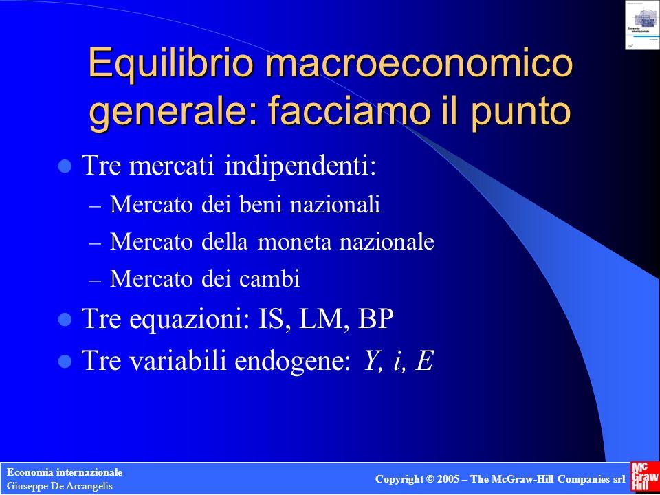 Equilibrio macroeconomico generale: facciamo il punto