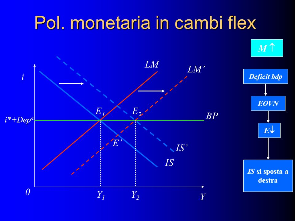 Pol. monetaria in cambi flex