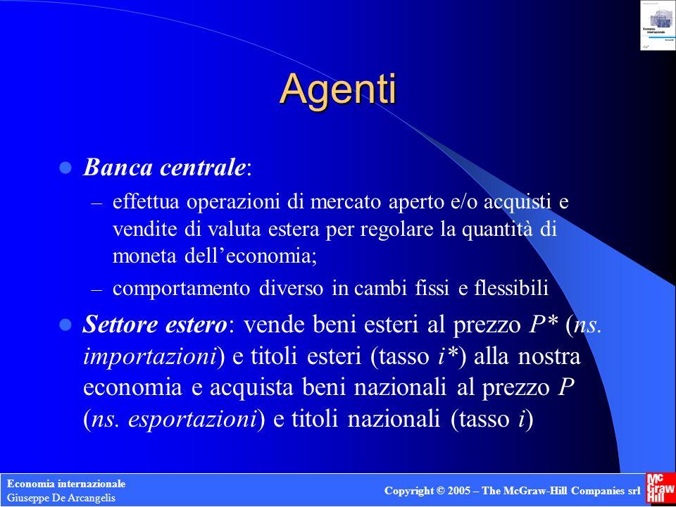 Agenti Banca centrale: