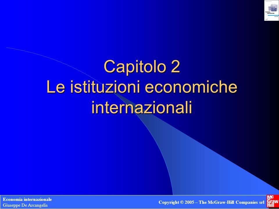 Capitolo 2 Le istituzioni economiche internazionali