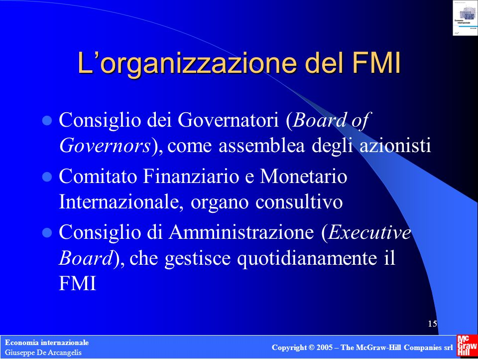 L'organizzazione del FMI