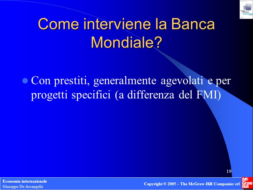 Come interviene la Banca Mondiale