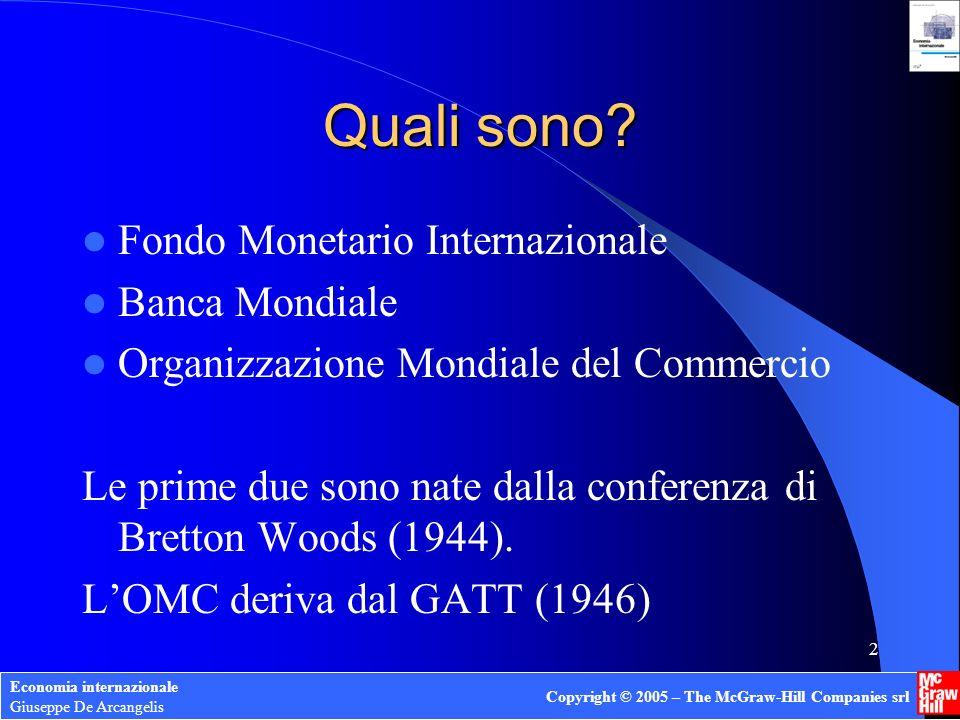 Quali sono Fondo Monetario Internazionale Banca Mondiale