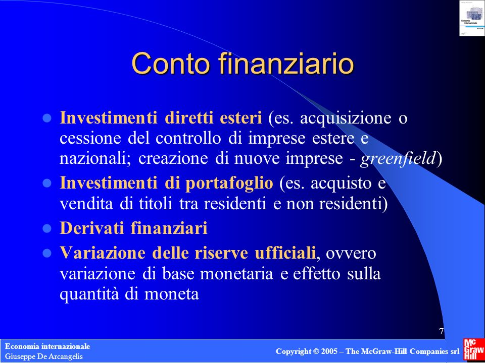 Conto finanziario