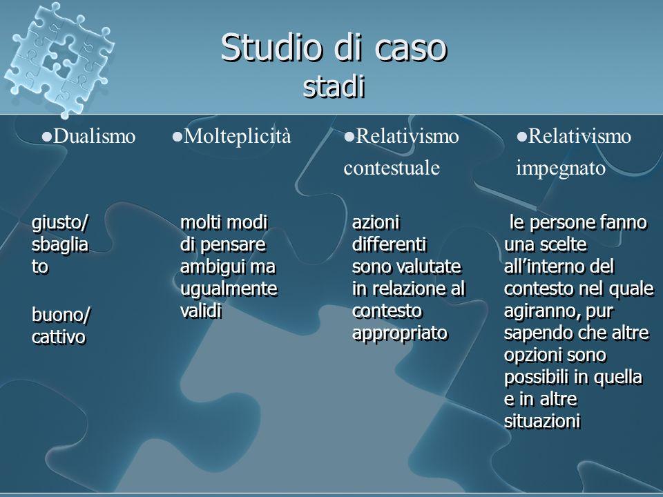 Studio di caso stadi Dualismo Molteplicità Relativismo contestuale