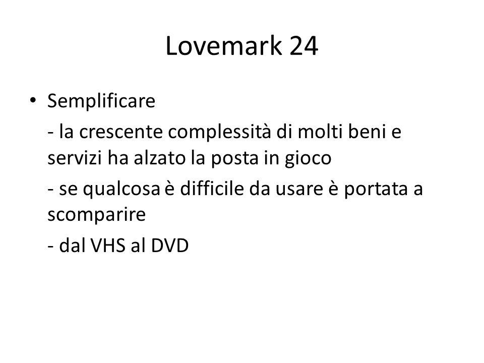 Lovemark 24 Semplificare