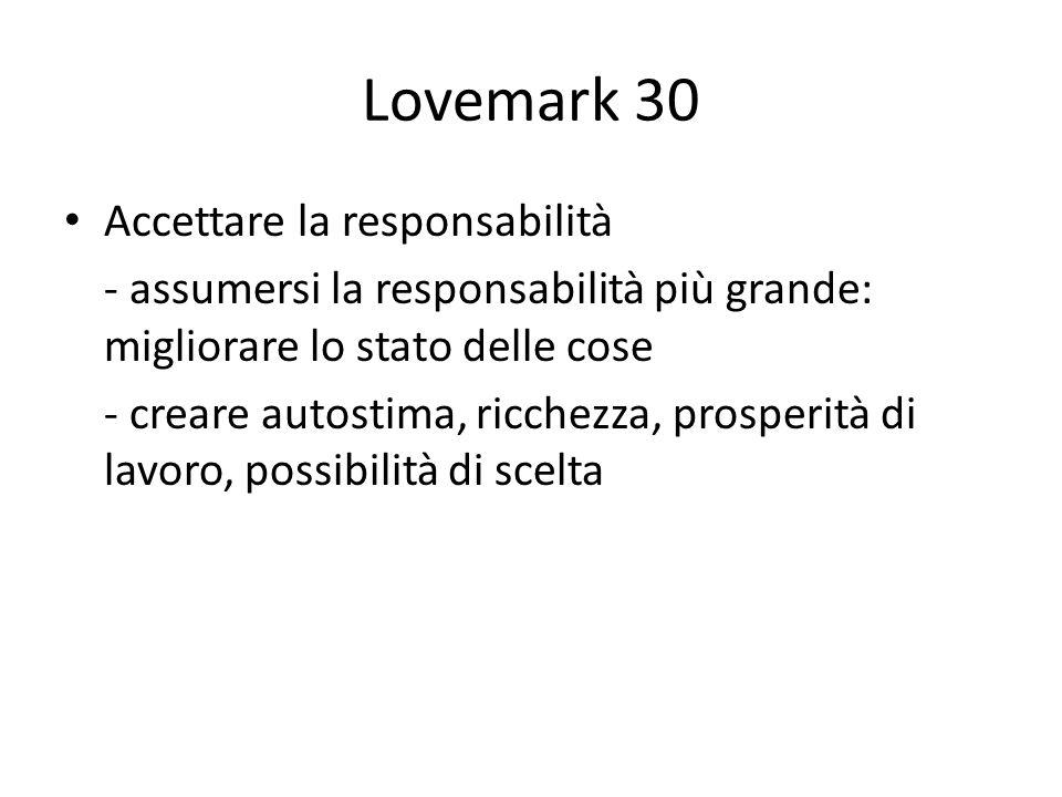 Lovemark 30 Accettare la responsabilità