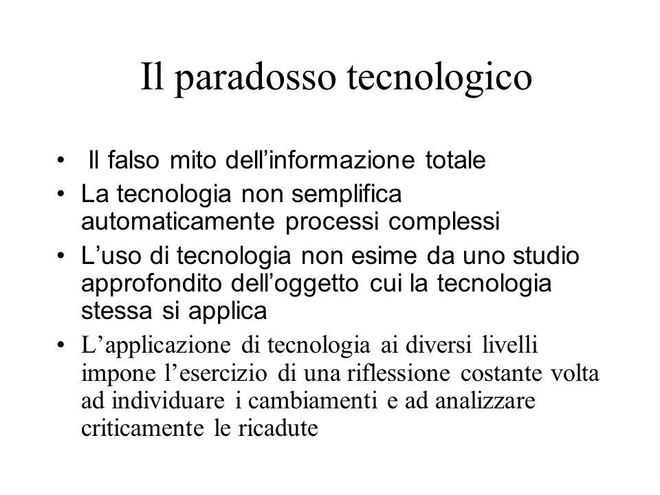 Il paradosso tecnologico