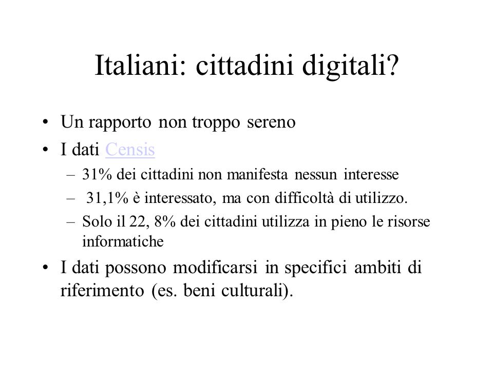 Italiani: cittadini digitali