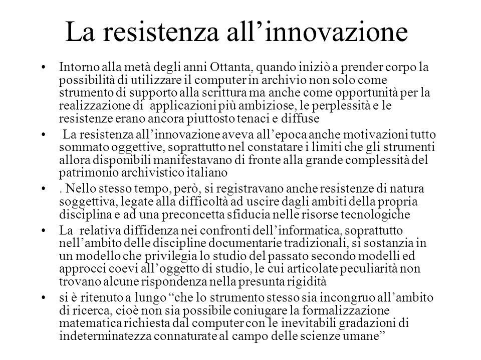 La resistenza all'innovazione