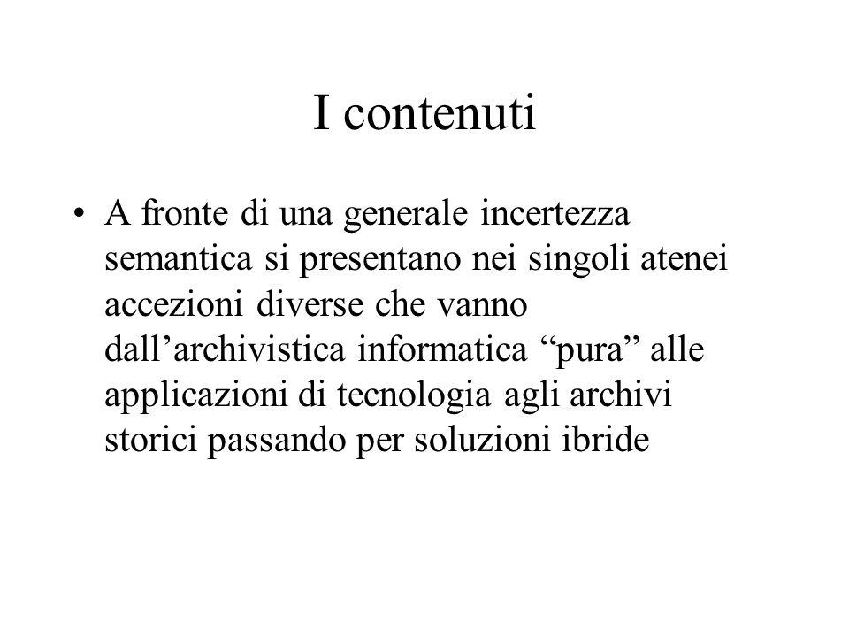I contenuti
