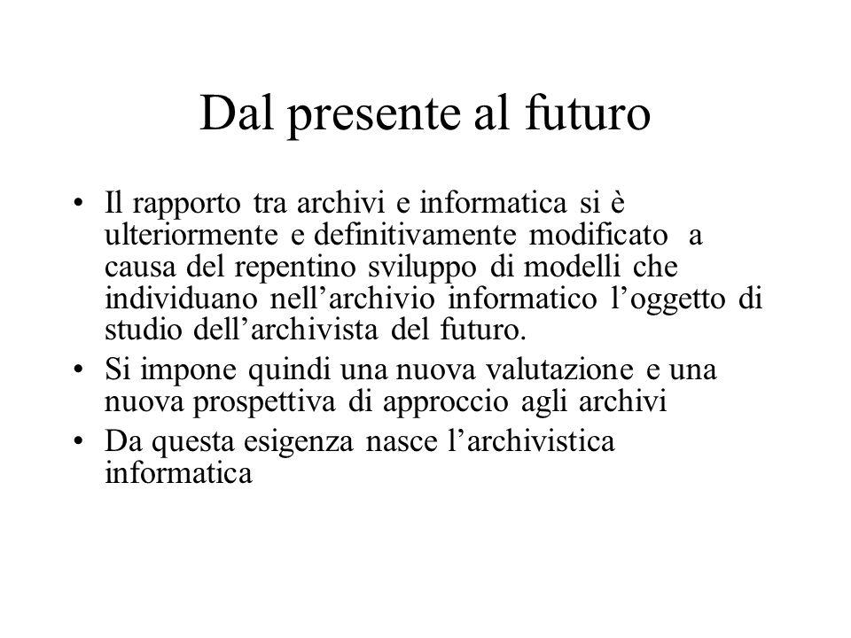 Dal presente al futuro