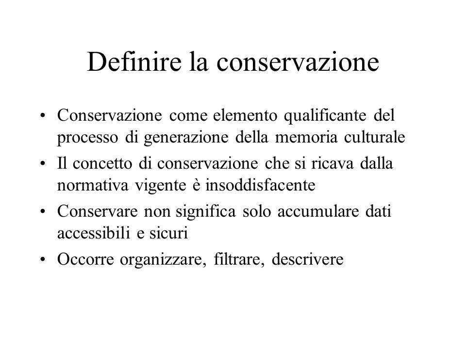 Definire la conservazione