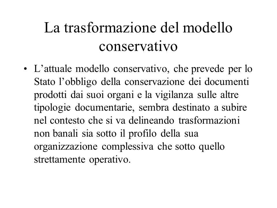 La trasformazione del modello conservativo