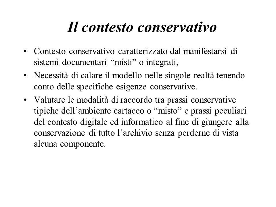 Il contesto conservativo