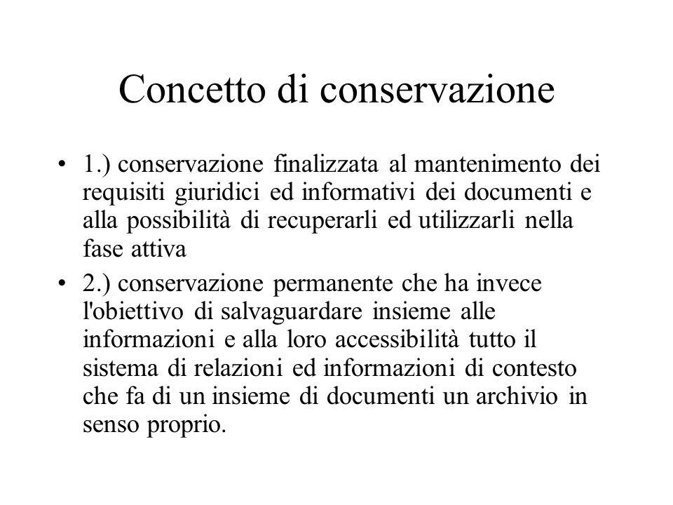 Concetto di conservazione