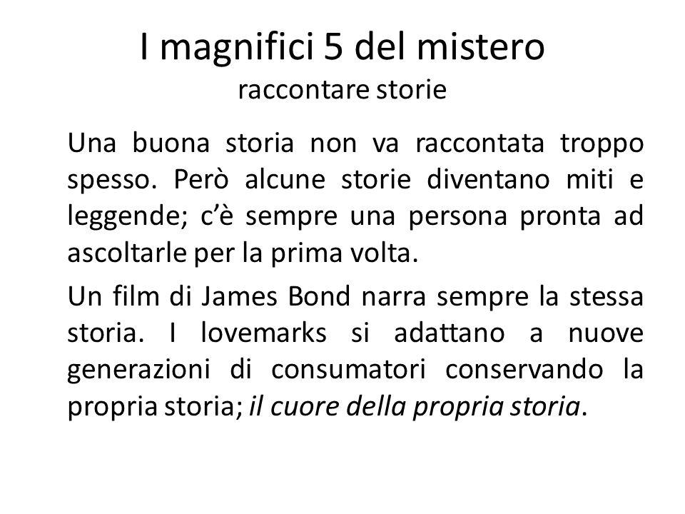 I magnifici 5 del mistero raccontare storie