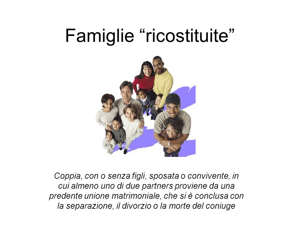 Famiglie ricostituite