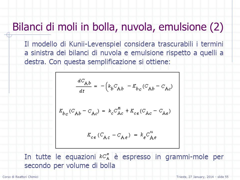 Bilanci di moli in bolla, nuvola, emulsione (2)