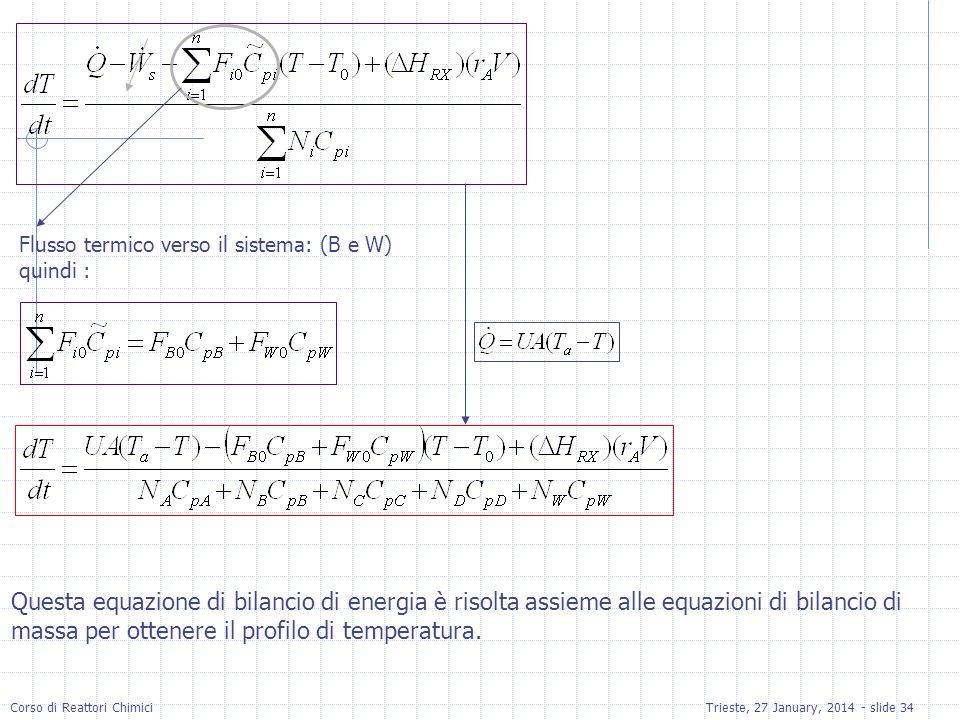 Flusso termico verso il sistema: (B e W)