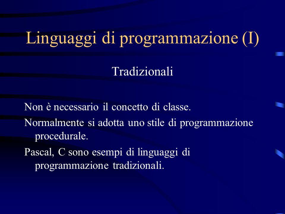 Linguaggi di programmazione (I)