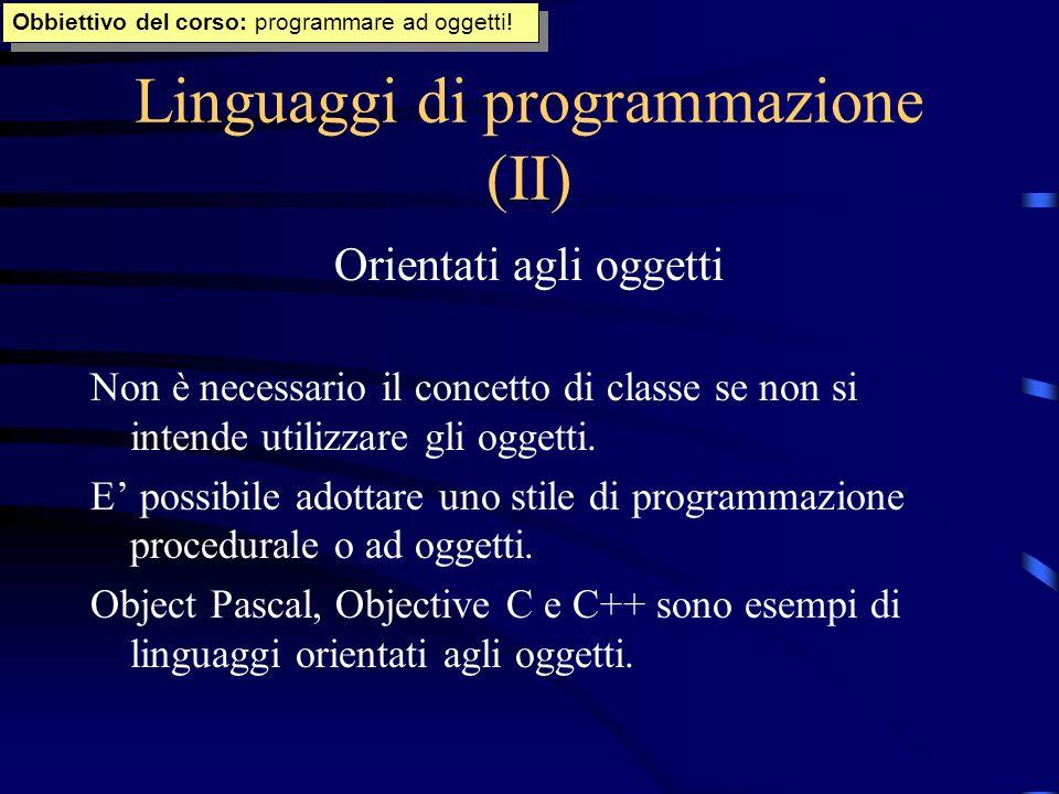 Linguaggi di programmazione (II)
