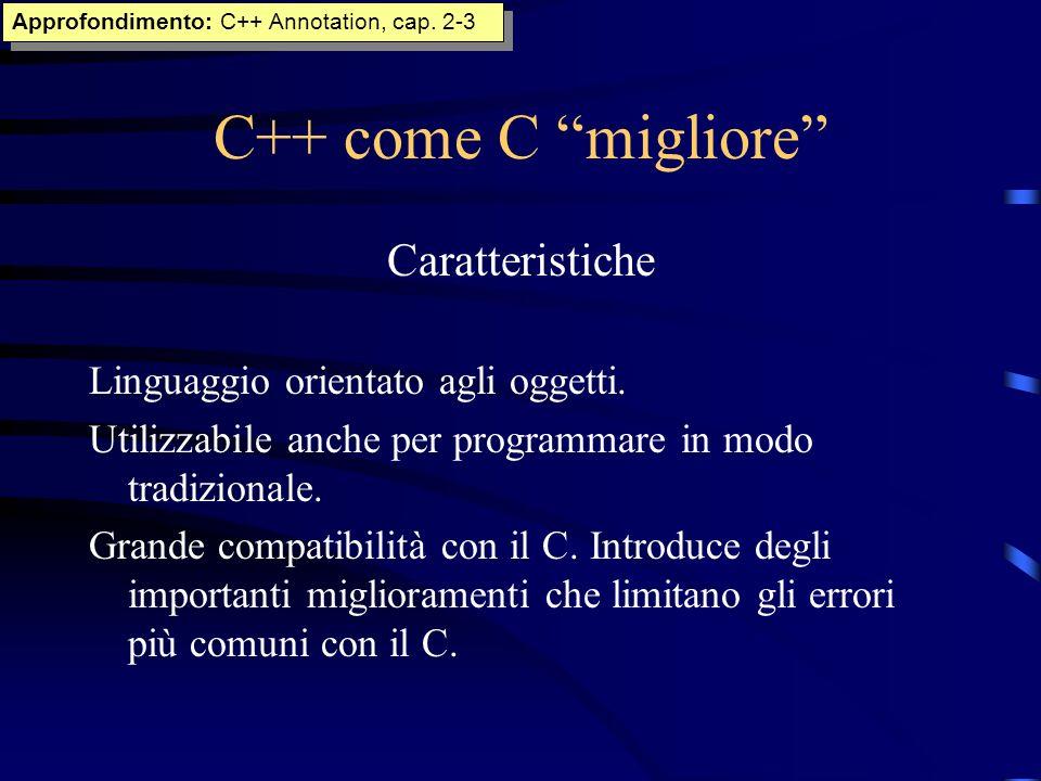 C++ come C migliore Caratteristiche