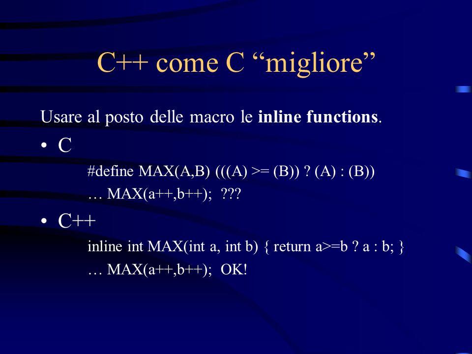 C++ come C migliore C C++